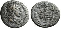 "Ancient Coins - Phrygia, Sabaste Pseudo-Autonomous Issue ""Senate & Zeus Seated"" Rare VF"