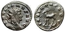 "Ancient Coins - Gallienus AE Antoninianus ""IOVI CONS AVG Goat Left"" RIC 207 Good VF Zoo"
