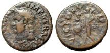 "Ancient Coins - Vitellius AE As ""VICTORIA AVGVST Victory, SPQR Shield"" Tarraco 69 AD RIC 46 Rare"