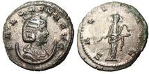 "Ancient Coins - Salonina Billon Antoninianus ""SALVS AVG Salus Feeding Snake"" Asia Mint RIC 88"