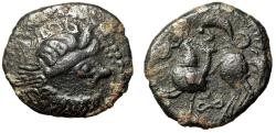 "Ancient Coins - Eastern Celts Kopostal Type Billon Tetradrachm ""Zeus & Horseman"" Scarce gVF"