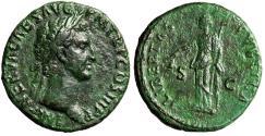 """Ancient Coins - Nerva AE As 97 AD """"LIBERTAS PVBLICA Libertas, Pileus"""" Rome RIC 86 VF"""