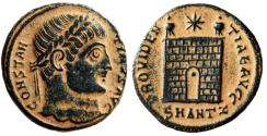 "Ancient Coins - Constantine I The Great ""PROVIDENTIAE AVGG Campgate"" Antioch Rare gVF Desert"