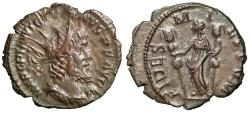 """Ancient Coins - Victorinus AE Antoninianus """"Fides Holding Ensigns"""" RIC 109 gVF"""