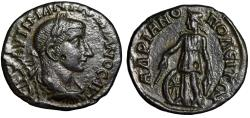 "Ancient Coins - Gordian III AE27 of Hadrianopolis ""Nemesis, Wheel"" Good VF"