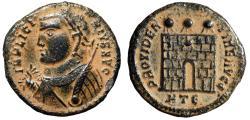 "Ancient Coins - Licinius I ""Regal Consular Portrait & Campgate"" Heraclea RIC 15 Desert Patina"