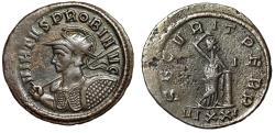 """Ancient Coins - Probus Antoninianus """"VIRTVS PROBI AVG Heroic Bust & Securitas"""" Ticinum RIC 526"""