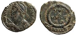 "Ancient Coins - Julian II The Apostate AE19 ""Heroic Bust & Votive"" Heraclea RIC 105 Scarce nEF"