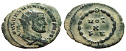 """Ancient Coins - Galerius AE Radiate """"VOT X FK Within Wreath"""" Carthage Mint 303 AD RIC 35 aVF"""