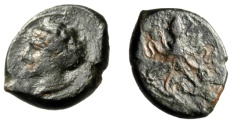 "Ancient Coins - King of Syracuse Circa 400 BC: Dionysios AE Tetras ""Arethusa & Octopus"" Scarce"