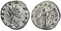 "Ancient Coins - Gallienus Silvered Antoninianus ""FORTVNA REDVX Fortuna"" Rome Near EF"