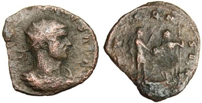 "Ancient Coins - Aurelian AE Ant. ""Globe From Jupiter"" Siscia RIC 225"