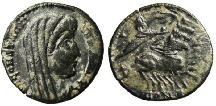 "Ancient Coins - Constantine I The Great Posthumous AE3 ""Quadriga"" Constantinople VF"