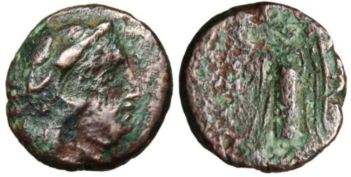 """Ancient Coins - Thrace, Lysimachia AE15 """"Hercules & Nike"""""""