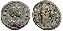 "Ancient Coins - Severina Antoninianus ""PROVIDEN DEOR Concordia & Sol"" Ticinum RIC 9 Scarce EF"