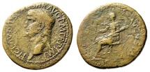 """Ancient Coins - Claudius I Dupondius """"CERES AVGVSTA Ceres, Torch"""" Rome 41-50 AD RIC 94 Scarce"""