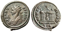 "Ancient Coins - Probus AE Antoninianus ""Imperial Bust Left & ROMAE AETER Roma, Temple"" VF"