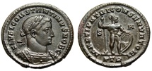 "Ancient Coins - Constantine I The Great as Caesar ""MARTI PATRI CONSERVATORI"" Trier RIC 725 EF"