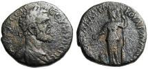 "Ancient Coins - Septimius Severus AE26 ""Athena, Altar at Feet"" Thrace Pautalia Rare Variant"