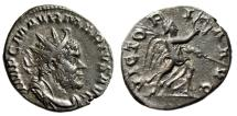 "Ancient Coins - Marius AE Antoninianus ""VICTORIA AVG Victory"" Cologne 269 AD Rare Good VF"
