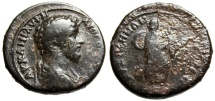 """Ancient Coins - Lucius Verus AE34 """"Demeter Carrying Objects"""" Mysia Kyzikos (Cyicus) Very Rare"""