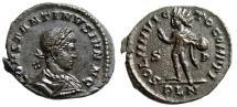"Ancient Coins - Constantine II AE Follis ""SOLI INVICTO COMITI Sol"" London RIC 117 Choice EF"