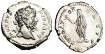 "Ancient Coins - Septimius Severus Silver Denarius ""FVNDATOR PACIS Olive Branch & Scroll"" RIC 265"