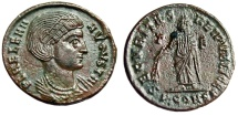 """Ancient Coins - Helena (Mother of Constantine I Great) """"Securitas T-F"""" Arles RIC 340 Rare aEF"""