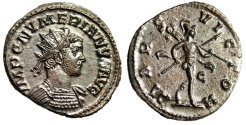 "Ancient Coins - Numerian Silvered Antoninianus ""MARS VICTOR Mars"" Lugdunum RIC 388 Choice EF"