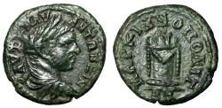 "Ancient Coins - Caracalla AE16 Markianopolis, Moesia ""Light & Garlanded Altar"" Green Patina EF"