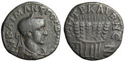 "Ancient Coins - Gordian III AE22 of Caesarea-Eusebia ""Six Grain Ears Tied"" RY 7 = 233-234 AD"