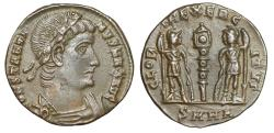 "Ancient Coins - Constantine I The Great ""GLORIA EXERCITVS Soldiers"" Heraclea RIC 150 Rare nEF"