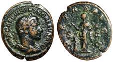 "Ancient Coins - Trebonianus Gallus AE As ""Pietas by Altar, Hands Raised"" Rome RIC 117b Rare"