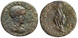 "Ancient Coins - Gordian III AE29 ""Veiled Tyche With Agnostic Urn Crown"" Pontus, Neocaesarea Rare"