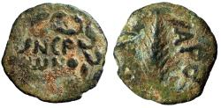 "Ancient Coins - Judean Procurator Under Nero, Porcius Festus AE Prutah ""Palm Frond"" Jerusalem"
