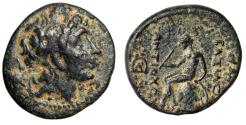 "Ancient Coins - Seleucid Empire: Antiochos III The Great ""Portrait & Apollo Seated"" Rare 18mm"