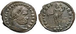 """Ancient Coins - Galerius AE Follis """"GENIO POPVLI ROMANI Genius"""" Heraclea RIC 20b gVF"""