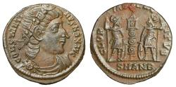 "Ancient Coins - Constantine I The Great ""GLORIA EXERCITVS Soldiers"" Antioch RIC 108 Near EF"