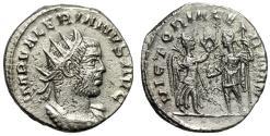 "Ancient Coins - Valerian I AR Antoninianus ""VICTORIA GERMAN Victory"" RIC Unlisted EF Very Rare"