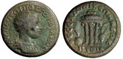 "Ancient Coins - Gordian III AE26 of Thessalonica, Macedonia ""Tripod, Amphora, Apples & Urn"""