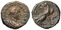 "Ancient Coins - Claudius II Gothicus Billon Tetradrachm of Alexandria, Egypt ""Eagle RY 3 gVF"