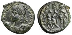 "Ancient Coins - Constantius II AE Centenionalis ""Emperor, Two Captives"" Nicomedia RIC 71 Good VF"