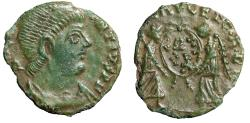 """Ancient Coins - Magnentius Barbarous Centenionalis """"Victories, V(wreath)T LVT in Wreath"""" Green"""