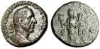 "Ancient Coins - Trajan Decius AE As ""Liberaltias With Abacus"" Rome 250 AD RIC 120a gVF Scarce"