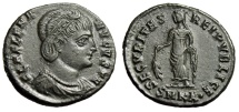"Ancient Coins - Helena (Mother Constantine) AE20 ""Securitas"" Cyzicus RIC 39 Choice EF Portrait"