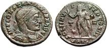 """Ancient Coins - Constantine I The Great AE20 """"SOLI INVICTO COMITI Sol"""" Arles RIC 80 Fine"""