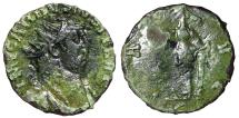 "Ancient Coins - Carausius AE Antoninianus ""PAX AVG Pax Leaning on Column"" Unpublished Very Rare"