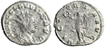 """Ancient Coins - Claudius II Silvered Antoninianus """"VICTORIA AVG Victory"""" Rome RIC 104 nVF"""