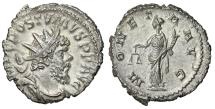 "Ancient Coins - Postumus AR Antoninianus ""MONETA AVG Moneta, Scales"" Trier RIC 75 Choice EF"