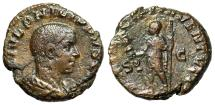 "Ancient Coins - Philip II Caesar AE As ""PRICIPI IVVENTVTIS Standard & Spear"" RIC 258b Rare"